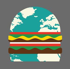 Globe hamburger