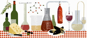 Molecules and science experiments with food and drink