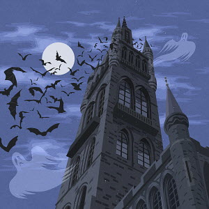 Spooky haunted castle