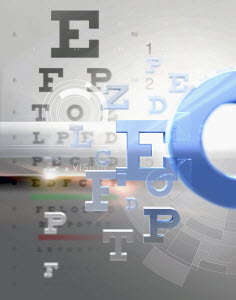 Letters from eye test chart