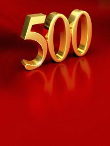 """3d golden """"500"""""""