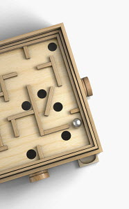 Wooden labyrinth toy game
