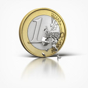 Countries leaving euro coin
