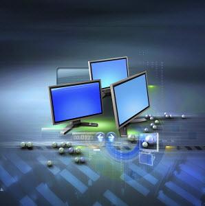 Computer monitors, data and ball bearings