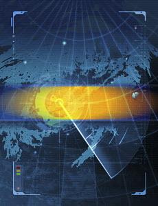 Radar monitoring screen