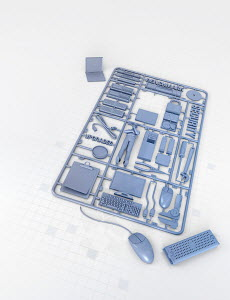 Plastic computer assembly kit