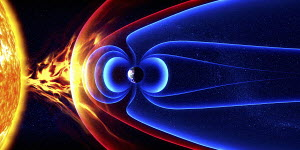 Earth's magnetic field and protection from the sun's solar flares and solar wind