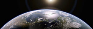 Close up of Central America and the Caribbean on planet earth
