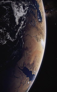 Digitally manipulated image of the Arabian Peninsula from space