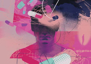 Drugs swirling around man's head