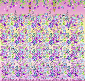 Cute flower and fairy pattern
