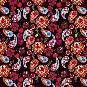Bright colorful paisley pattern