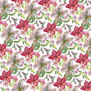 Full frame pink floral pattern