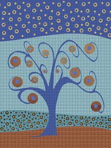 Blue tree pattern