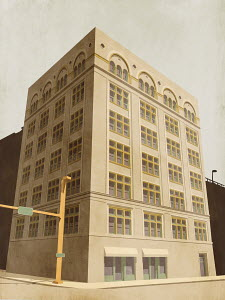 Building on city corner