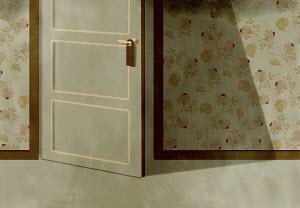Do not disturb sign on door open ajar