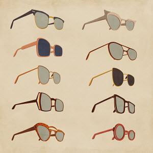 Variety of retro sunglasses