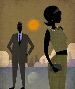 Elegant couple in Manhattan, New York
