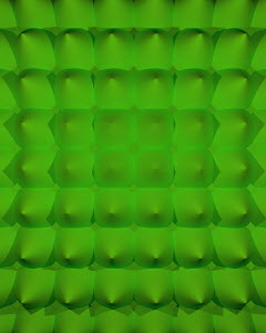 Abstract bright green backgrounds pattern of rows of cones