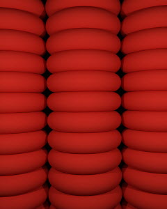 Abstract bright backgrounds pattern of piles of red rubber rings