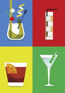 Four different cocktails