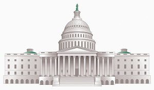 Illustration of the United States Capitol Building, Washington DC