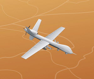 Illustration of military missile drone