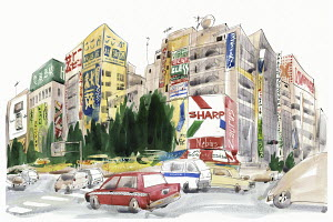 Street in Akihabara, Tokyo, Japan