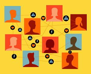 People choosing possible partners in online dating network