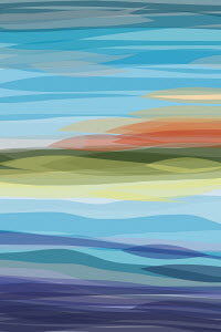 Abstract colorful landscape