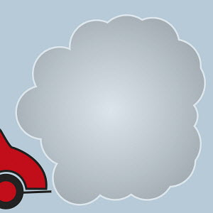 Air pollution from car exhaust