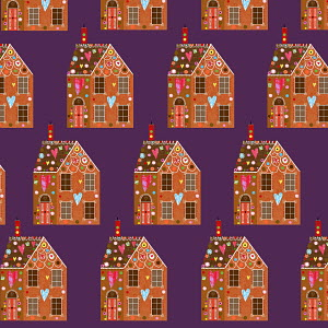 Gingerbread houses in a row,
