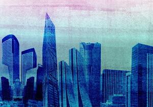 Modern cityscape skyscraper architecture