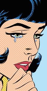 Close up of sad woman crying