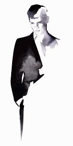 Handsome man posing in suit