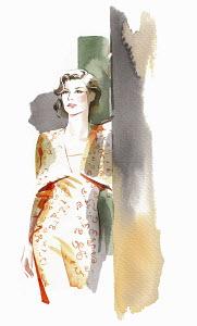 Elegant woman wearing cocktail dress