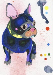 Painting of French Bulldog