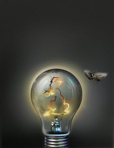 Lights going out on United Kingdom light bulb