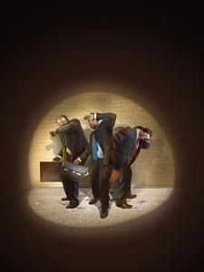 Businessmen caught in spotlight stealing money