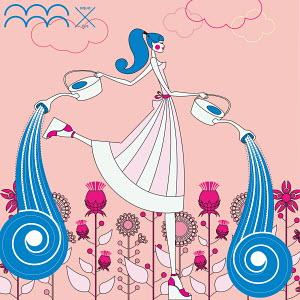 Fashion model as aquarius zodiac sign