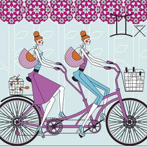 Twin fashion models as gemini zodiac sign