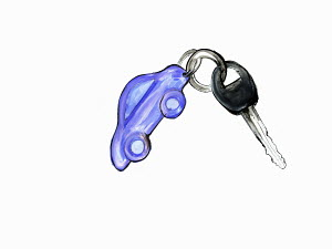 Car on car key ring