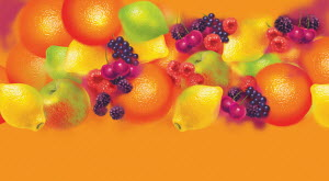 Colorful pattern of lots of different fresh fruit