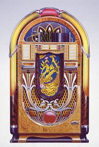 Retro vintage jukebox