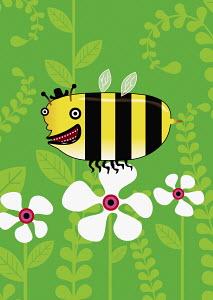 Bee standing on flower