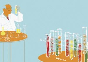 Scientist testing samples