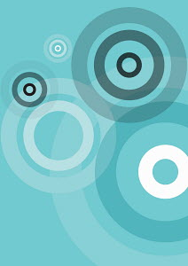 Abstract concentric circle pattern