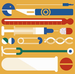 Assortment of medical icons