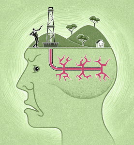 Fracking is being done inside man's head