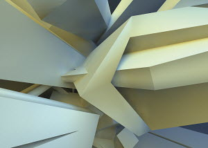 Abstract three dimensional angular backgrounds pattern